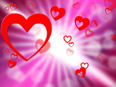 Hearts Background Indicates Valentines Day And Affection — Stock Photo