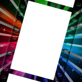 Background Filmstrip Means Empty Space And Abstract — Stock Photo