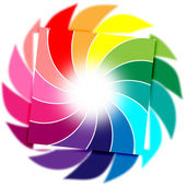 Color Background Means Whirl Whirling And Colourful — Stock Photo