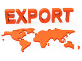 World Export Shows Trading Exporting And Exportation — Stock Photo