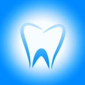 Tooth Icon Represents Dentist Icons And Root — Stock Photo