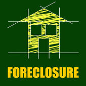 Foreclosure House Indicates Repayments Stopped And Apartment — Stock Photo