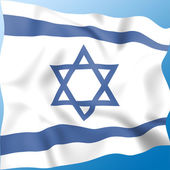 Flag Israel Indicates Middle East And Destination — Stock Photo