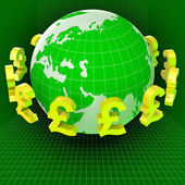 Forex Pounds Indicates Exchange Rate And Gbp — Stock Photo