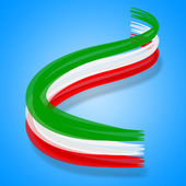 Flag Italy Represents Patriotic Nationality And Patriot — Stock Photo