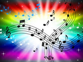 Sunrays Color Shows Bass Clef And Audio — Stock Photo