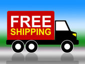 Truck Shipping Means Free Of Cost And Complimentary — Stock Photo