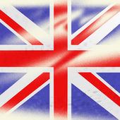 Union Jack Indicates British Flag And Backdrop — Stock Photo