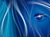 Blue Background Indicates Human Eye And Look — Stock Photo