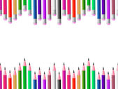 Pencils School Means Colours Spectrum And Learning — Stock Photo