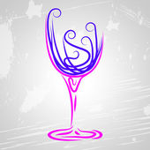 Wine Glass Indicates Beverage Alcoholic And Celebrations — Stock Photo