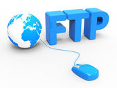 Global Internet Indicates File Transfer Protocol And Web — Stock Photo