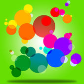 Color Background Indicates Circles Bubble And Orb — Stock Photo