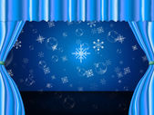 Snowflake Copyspace Indicates Ice Crystal And Celebrate — Stock Photo