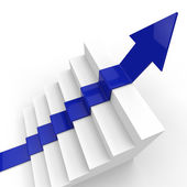 Arrow Growth Represents Succeed Prevail And Improve — Stock Photo