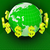 Forex Dollars Represents Currency Exchange And Cash — Stock Photo