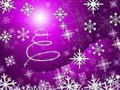 Xmas Tree Represents Merry Christmas And Congratulation — Stock Photo