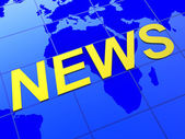 News World Indicates Article Globalization And Journalism — Stock Photo
