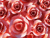 Roses Background Shows Valentines Petals And Valentine — Stock Photo