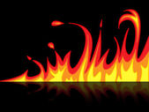 Fire Reflection Represents Mirrored Blazing And Raging — Stock Photo
