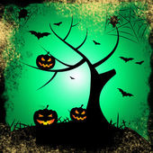 Tree Halloween Represents Trick Or Treat And Autumn — Stock Photo