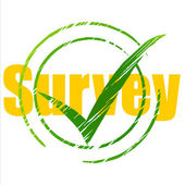 Tick Survey Represents Yes Checkmark And Assessing — Stock Photo