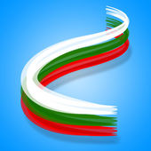 Bulgaria Flag Represents Europe Patriotic And Nation — Stock Photo
