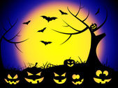 Halloween Bats Represents Trick Or Treat And Autumn — Stock Photo