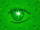 Green Eye Represents Backdrop Design And Eyesight — Stock Photo