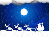 Reindeer Snow Indicates Father Christmas And Animal — 图库照片
