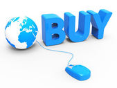 Internet Buy Represents World Wide Web And Retail — Stock Photo