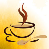 Coffee Beverage Represents Caffeine Cafe And Cafeteria — Stock Photo