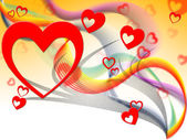 Background Hearts Shows Valentine's Day And Affection — Stock Photo