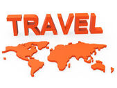 Travel World Indicates Worldly Globalization And Touring — Stock Photo