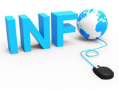 Internet Info Represents World Wide Web And Globalize — Stock Photo