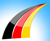 Flag Germany Represents Nation Deutch And Nationality — Stock Photo