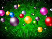 Explosion Colourful Means Ball Sphere And Colours — 图库照片
