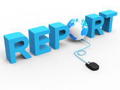 Global Report Represents World Wide Web And Analysis — Stock Photo