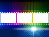 Color Copyspace Means Negative Film And Blank — Stock Photo