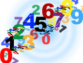 Maths Counting Means Numerical Number And Template — Stock Photo