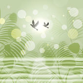 Doves Bokeh Indicates Freedom Environment And Green — Stock Photo