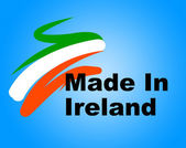 Manufacturing Ireland Represents Import Manufacture And Business — Stock Photo