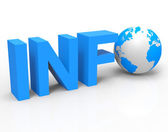 World Info Shows Knowledge Globalisation And Information — Stock Photo