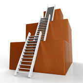 Success Ladders Shows Succeed Victor And Increase — Stock Photo