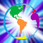 Global Globe Represents Vibrant Planet And Globalisation — Stock Photo