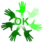 Hands Ok Means All Right And O.K. — Stock Photo