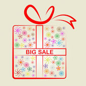 Sale Big Means Gift Box And Clearance — Stock Photo