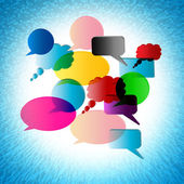 Speech Bubble Shows Explain Talking And Communication — Stock Photo
