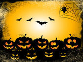 Pumpkin Bats Represents Trick Or Treat And Celebration — Stock Photo