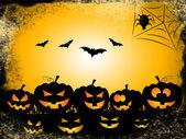 Pumpkin Bats Represents Trick Or Treat And Celebration — Stock Photo